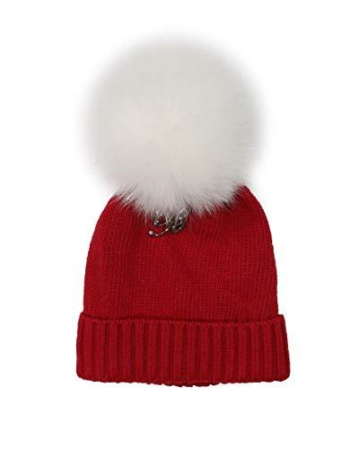 Miss BLUMARINE Baby PON PON Hat, 9 Mois (74cm), Rouge