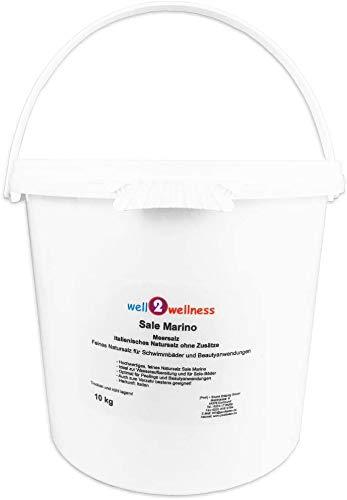 well2wellness Sale Marino Meersalz Natursalz ohne Zusätze - Feines Natursalz für Schwimmbäder und Beauty Anwendungen im 10kg Eimer