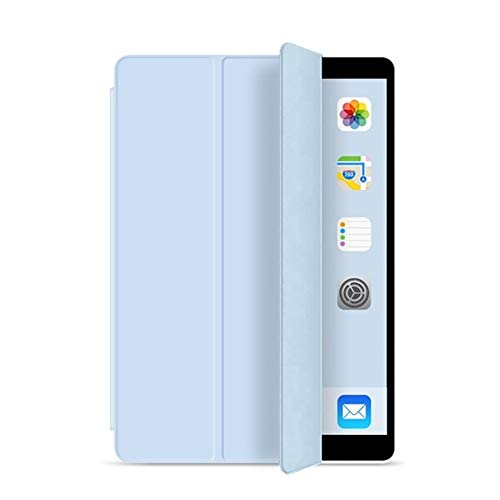NVFED for iPad 5th 6th 9.7 in 2017 2018 Case 7th 10.2' 2019 Mini 5 Air 3 10.5 inch New Pro 11 Soft Silicone PU Smart Sleep Cover Funda (Color : Ice Blue, Size : for iPad Air 3 10.5)