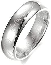Women's Silver 928 Plated Ring With writing Lord of the Rings US size 7