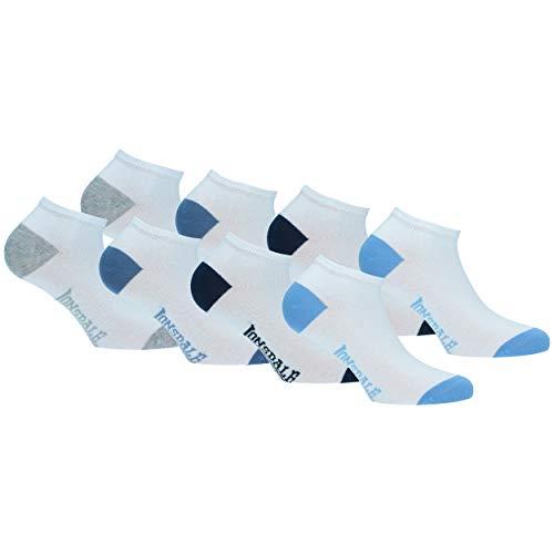 Lonsdale Sneaker Junior 8 pares de calcetines para bebé, altura del tobillo, excelente calidad de algodón (Niño Blanco, 31-34)