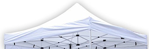 Nexos Pavillondach Ersatzdach für Profi Falt-Pavillon 3x3m - Dachplane 270g/m² 300D PVC-Coating versiegelte Nähte wasserdicht – Farbe: weiß