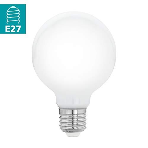 Preisvergleich Produktbild EGLO LED E27 Lampe,  Glühbirne Globe Milky,  LED Lampe,  5 Watt (entspricht 40 Watt),  470 Lumen,  E27 LED warmweiß,  2700 Kelvin,  LED Leuchtmittel,  Glühlampe G80,  Ø 8 cm