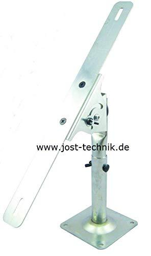 JOSTechnik Halterung für Solar Systeme 5 W bis 50 W verstellbar für Montage an Wand, Boden oder Dach