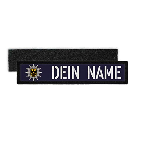 Copytec Patch Name Plate BPOL Velcro Stripes Uniform Bundes-Police Name #34950