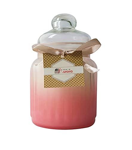 Velas de Aurora Greta perfumada de jarrón de Cristal con Tapa, Cera,...