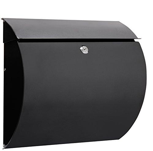 Arregui Aura E5404 Buzón Individual de Acero, tamaño L (revistas y sobres C4), Negro, 330 x 375 x 105 mm