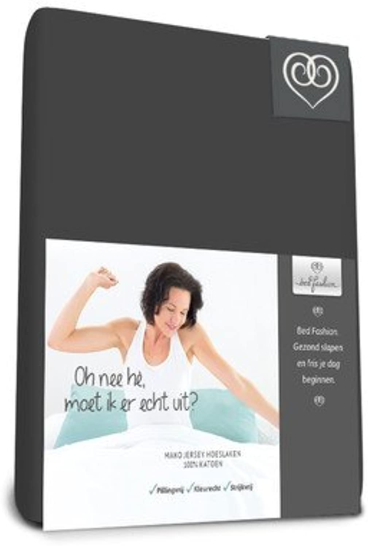 Bed-Fashion Elasthan Split Topper Spannbettlaken, Mako-Satin, anthrazit, King, 180 180 180 x 200 cm B01LO1E8K6 72d721