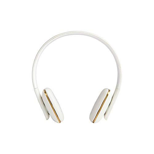 KREAFUNK Ahead Wireless Bluetooth On-Ear Kopfhörer + Mikrofon, kabellose Kopfhörer, weiß