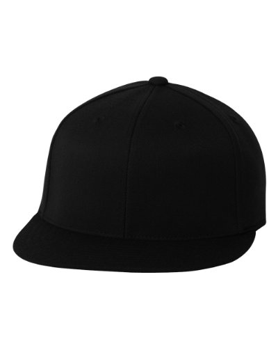 Flexfit Premium Flatbill Cap – Fitted 6210 - Large/X-Large (Black)
