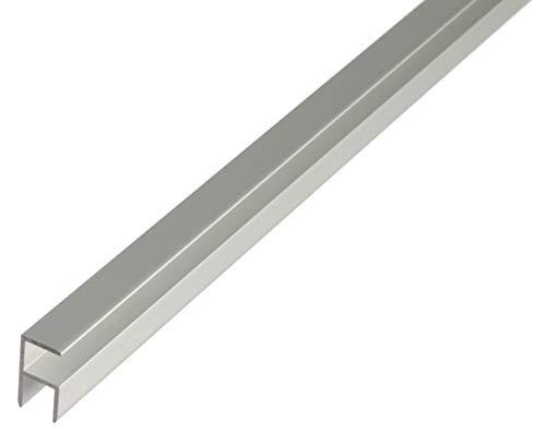 GAH-Alberts 30609 Eckprofil | selbstklemmend | Aluminium, silberfarbig eloxiert | 1000 x 12,9 x 24 mm