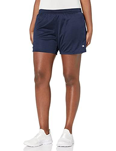 Champion Women's Mesh Short, Navy, Large