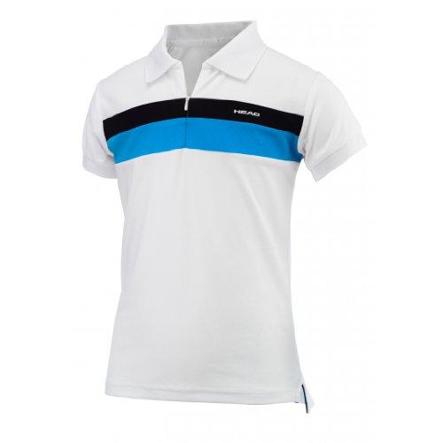 HEAD - Tennis-Poloshirts für Mädchen in Schwarz, Größe L