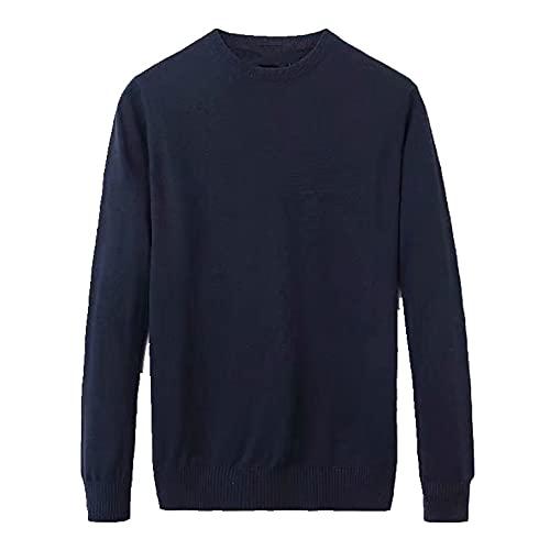 Casual Hombres Suéteres Jerséis O-cuello Rayas Slim Fit Knittwear Mens Suéteres Ropa de los hombres