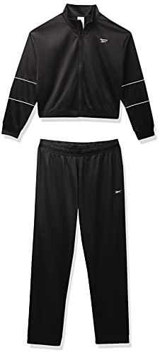 Reebok Women's Polyester Te Track Suit (H58624_L, Black, L)