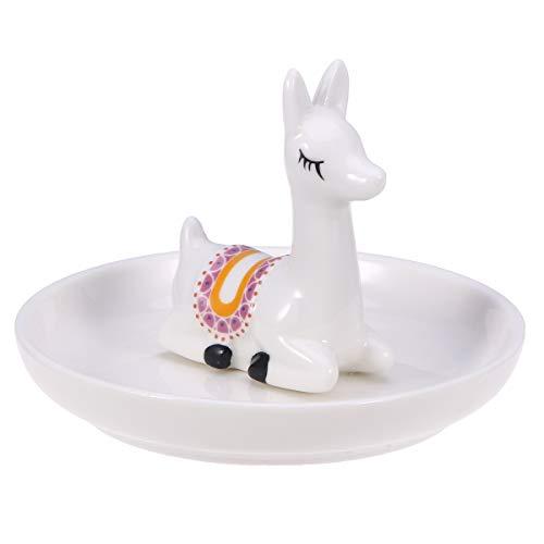 Vassoio per gioielli in alpaca in ceramica Simpatico portagioie decorativo per anelli bracciali orecchini (alpaca)