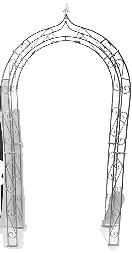 Alt Mebel Ihr Gartentraum 120 cm, Höhe 236 cm, Gewicht 25 kg, Tiefe 36 cm Rosenbogen Feuerverzinkt Massiv Eisen Gute Qualität Stabil 12 mm Stabil