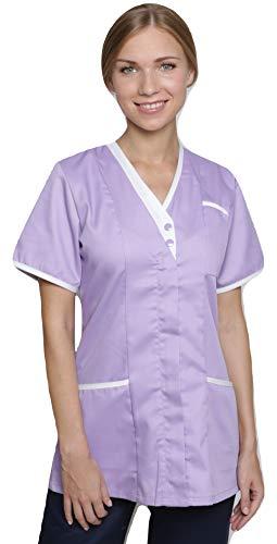 Mirabella Health & Beauty Damen Medizin Und Pflege Kasack Cavell Lila-Weiß Gr. 38
