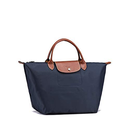 LongchampTasche Damen Handtasche Le Pliage Large Tote Bag Faltbare Schultertasche Einkaufstüten (Blau)