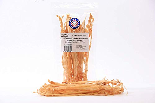 3oz GoGo Turkey Tendon Strips Dog Chew Treats Sourced and Made in The USA one Ingredient - The Original Turkey Chew