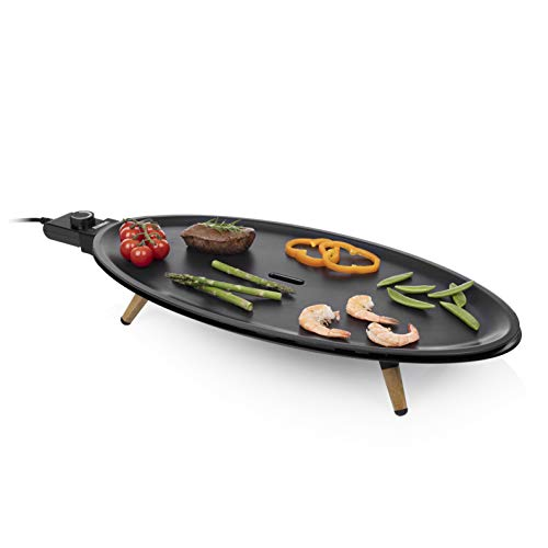 Princess 01.103200.01.001 Table Chef Elypse Pure Tafelgrill, 2000, aluminium, zwart