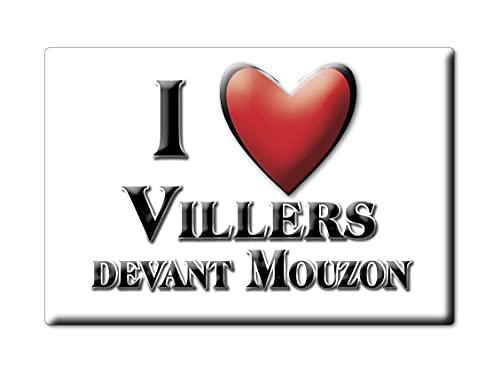 Enjoymagnets VILLERS Devant MOUZON (8) Souvenir IMANES DE Nevera Francia AQUITAINE IMAN Fridge Magnet Corazon I Love