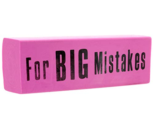Riesen-Radiergummi for Big Mistakes pink