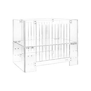 Nursery Works Vetro Mini Crib with Pure Core Mini Crib Mattress