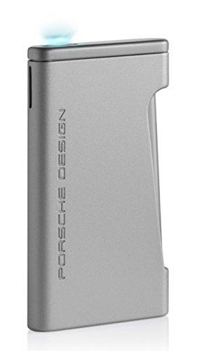 Lifestyle-Ambiente Porsche Design Feuerzeug P3641 Flat-Flame-Zündung Silber inkl Tastingbogen