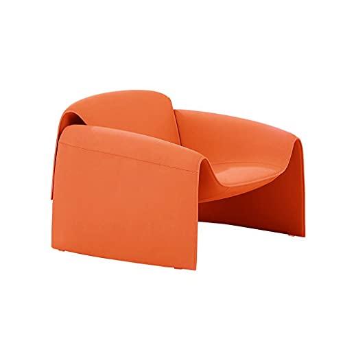 JGHGO Design scandinavo Poltrona Singola per Il Tempo Libero Poltrona Singola Minimalista Italiana Poltrona postmoderna Minimalista (Color : Orange)