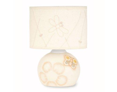 THUN, Lampada da Tavolo con Paralume Piccola, Linea 'Elegance', Ceramica, 21 cm h
