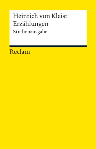 Erzählungen: Studienausgabe (Reclams Universal-Bibliothek)