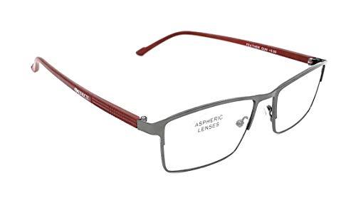 Gafas de presbicia Hombre y Mujer Diseño en Colores: azul, rojo, negro y caramelo. VENICE FEATHER - lentes plegables y de metal. Dioptrías: 1 a 3,5 (Rojo, Graduación 3,50)