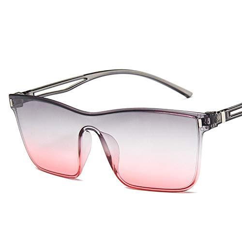 NJJX Nuevas Gafas De Sol Para Mujer, Vintage, Coloridas, De Plástico, Cuadradas, Gafas De Sol Para Mujer, Gradiente, Gafas De Sol, Gafas Uv400, Gris, Rojo