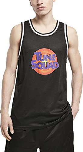 Mister Tee Space Jam Tune Squad Logo Mesh Tanktop Camiseta, Negro, XXL para Hombre