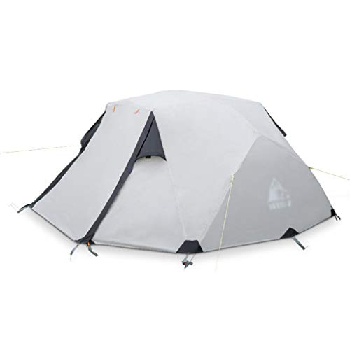 JLFSDB Double Rainstorm Tent Double Door Outdoor Camping Tent Top Pick Bar Design for All Seasons - Grey