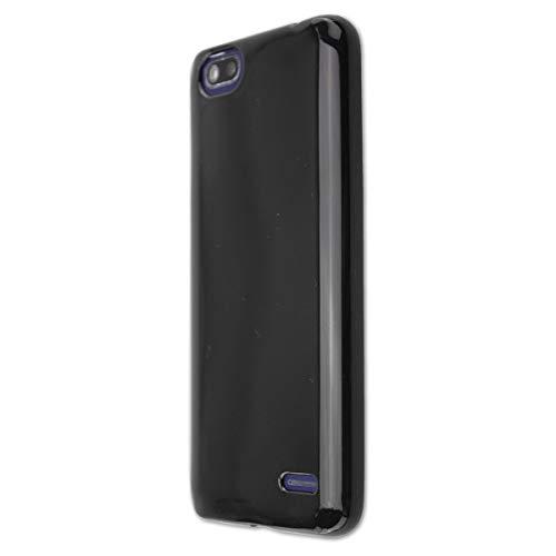 caseroxx TPU-Hülle für Gigaset GS100, Tasche (TPU-Hülle mit & ohne Bildschirmschutz) (TPU- Hülle mit Bildschirmschutz, schwarz)