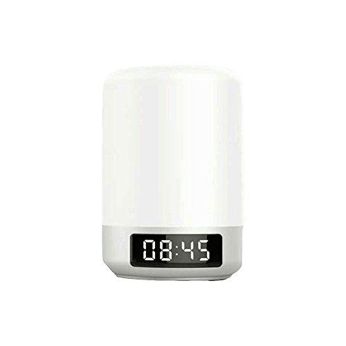 Veilleuse ZQ sans Fil Bluetooth Haut-Parleur Réveil Intelligent Horloge Étudiant LED Lampe Tactile Son Lampe de Chevet