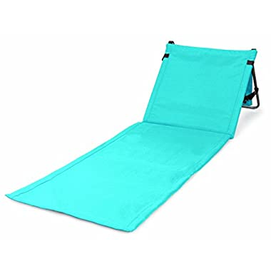 Portable Beach Mat Lounge Chair and Tote by Bo Toys (Plain Blue)