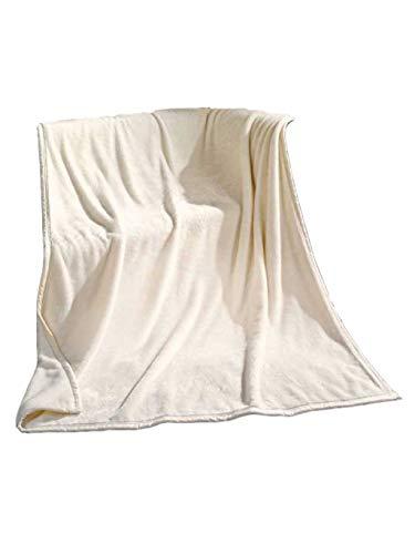 Rally Fashion Zarah Super-Flausch-Decke Weiß 300163-1 Wohndecke Flauschdecke Kuscheldecke 150 x 200 cm
