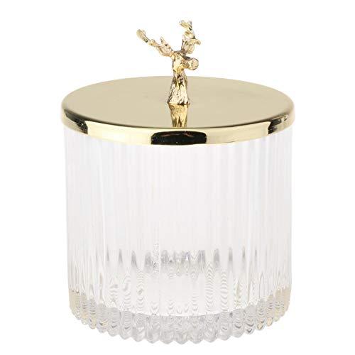 Baoblaze Juego de recipientes de Vidrio para Cocina o baño tarros de Almacenamiento de Alimentos de Vidrio con Tapa tarros de Galletas y Dulces, contenedores - Venado L