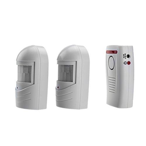 SP70 mit 2 Sensor Bewegungsmelder Durchgangsalarm Tür- und Fensteralarm Einsatz als Alarmanlage Einbruchsschutz Reichweite bis zu 120Meter