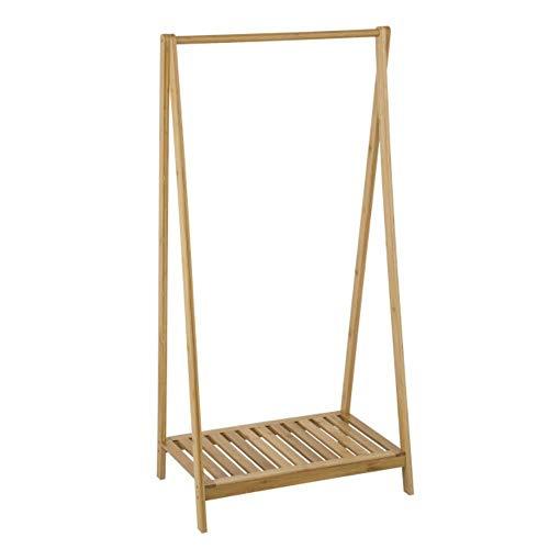 Estante de bambú para ropa, estante de almacenamiento colgante de pie con estante para zapatos, 60x35x120cm, organizador de perchero, muebles de dormitorio