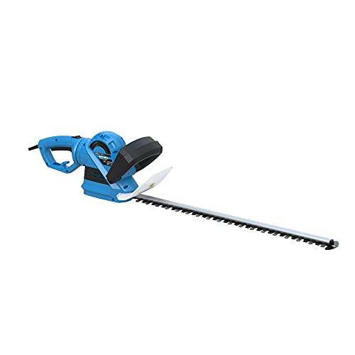 Güde 93999 GHS 690 L Heckenschere (710 W, 24 mm Messerabstand, 600 mm Schnittlänge, Messer Schnellstop), Blau