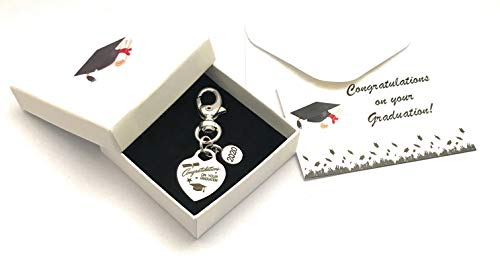 Congratulations On Your Graduation with 2020 Charm Keyring with Gift Box and Graduation Gift Card