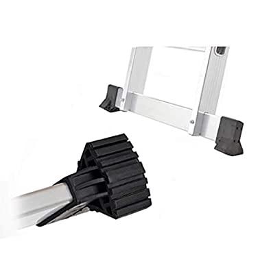 Telescoping Ladder Horizontal Stair-Style Cap/Shoe Kit/Feet Foot Pads/Cover/for Extension Ladder Crossbar/Support Bar/Extension Ladder Parts/Bumpers Replacement Kit?2Pcs? (2)