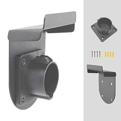 EVCARS EV Charger Holder Holster Type 1, Electric Vehicle Charger Holder, EV Charger Plug Nozzle Holster Dock for J1772 with EV Charger Wall Hook Cable Holder