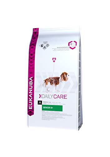 Eukanuba Daily Care Senior 9+ Trockenfutter - Spezialfutter für ältere Hunde aller Rassen mit Huhn zum Erhalt einer guten Körperkondition, 12 Kg