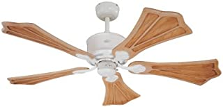 Westinghouse 72457 Oak Harbor 54-Inch Five-Blade Ceiling Fan, Satin White with