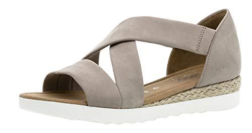 Gabor 22.711 Damen Sandalen,Riemchensandale, Frauen,Sandalette,Sommerschuh,flach,Comfort-Mehrweite,leinen (Jute),6 UK
